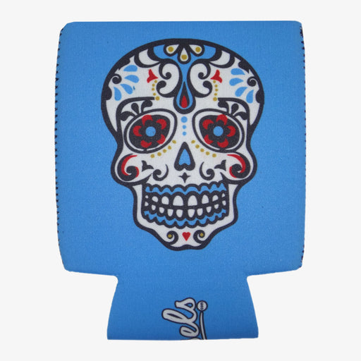 Aksels Day of the Dead Can Cooler - Blue