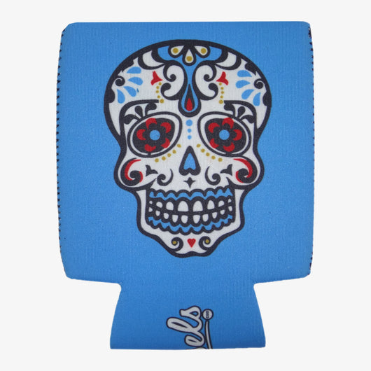 Day of the Dead Koozie - White