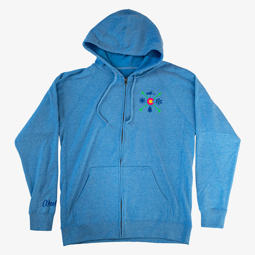 Aksels Colorado Arrows Full-Zip Hoodie - Blue