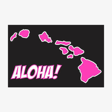 Aksels Aloha Hawaiian Islands Sticker - Yellow