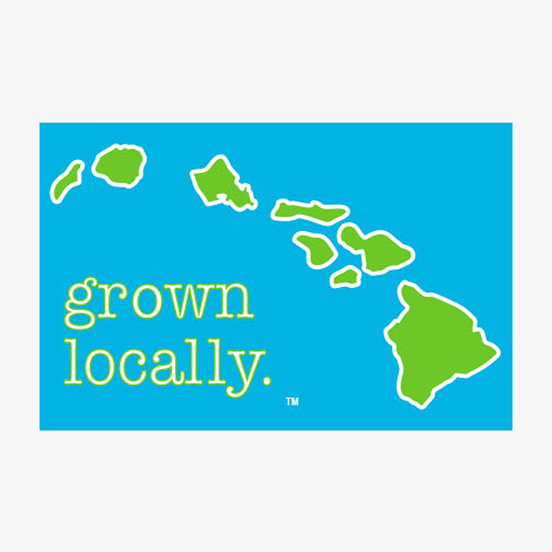 Aksels Grown Locally Hawaiian Islands Sticker - Yellow