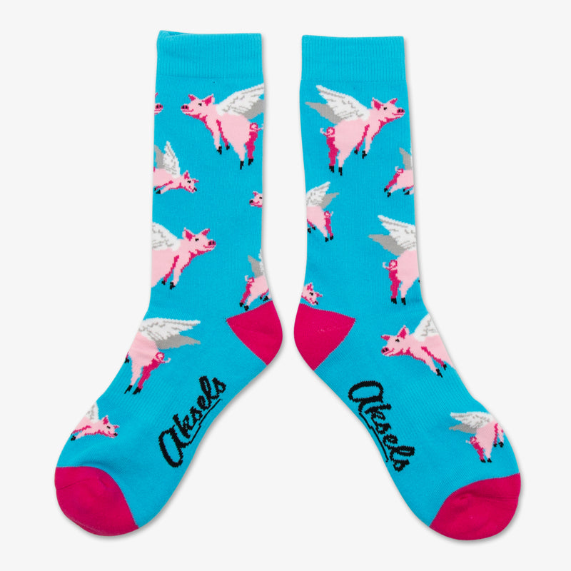Aksels All Over Print Pigs Flying Socks