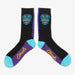 Aksels Day of the Dead Sugar Skull Socks - Black