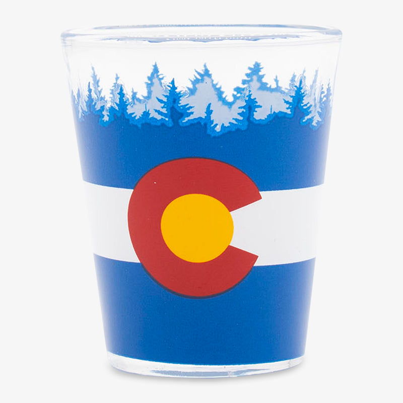 Aksels Colorado Flag Shot Glass