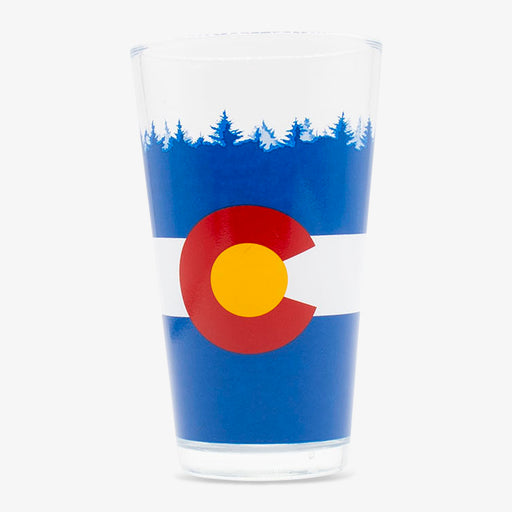 Aksels Colorado Flag Pint Glass