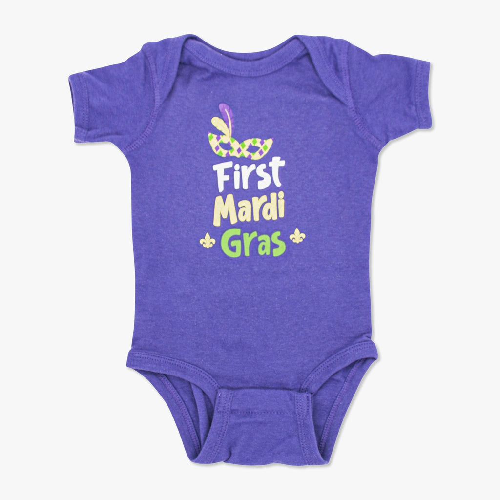 Aksels My First Mardi Gras Onesie - Purple