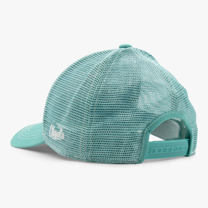 Aksels Abstract Winter Mountain Low Pro Trucker Hat - Teal
