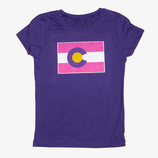Aksels Girls Colorado Flag T-Shirt