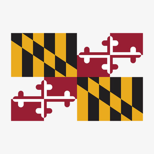 Maryland flag sticker