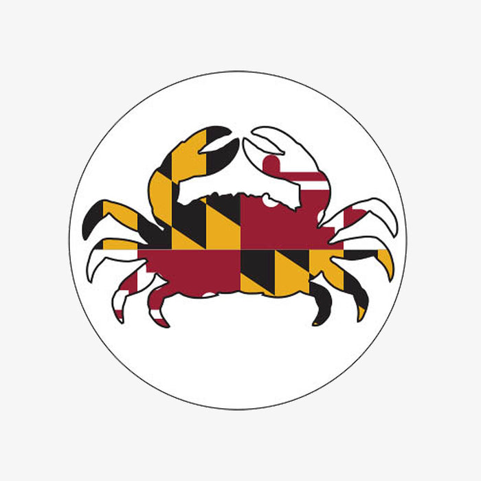 Aksels Maryland Crab Sticker - White