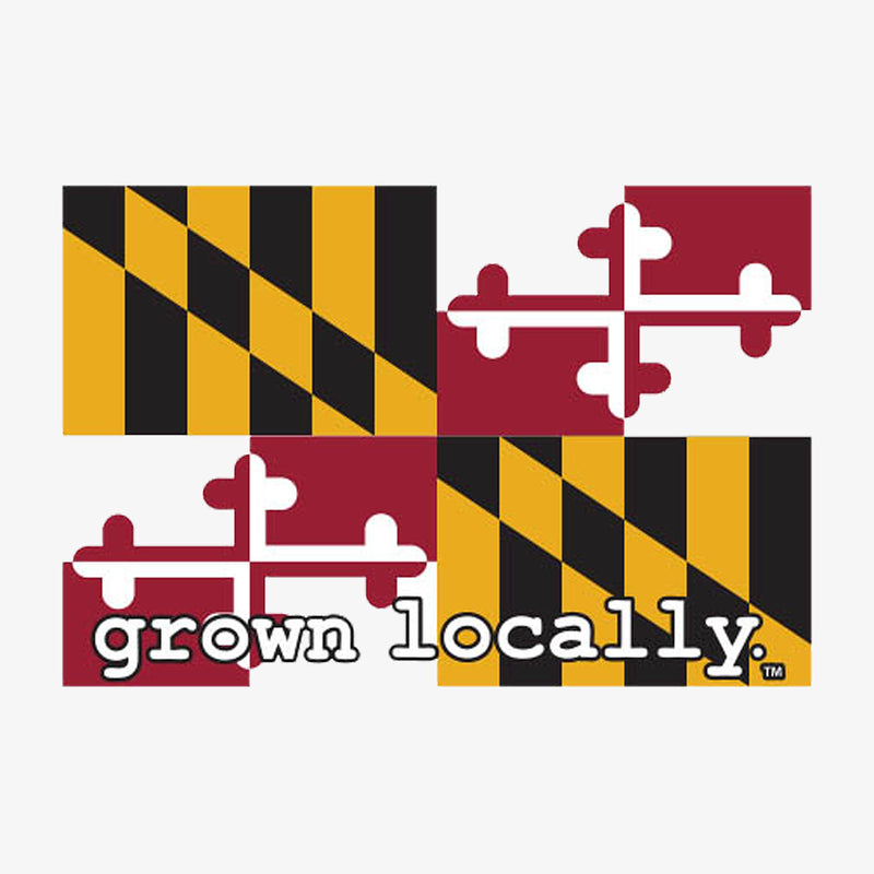 Grown Locally Maryland Flag Sticker - Neon