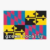 Maryland Grown Locally Flag Sticker