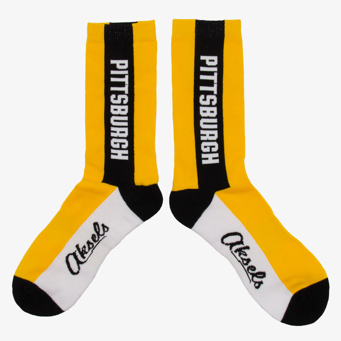 Aksels Pittsburgh Black and Yellow Socks