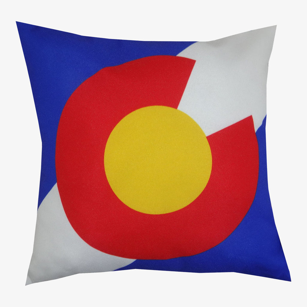 Aksels Colorado Flag and Sunset Double-Sided Pillow