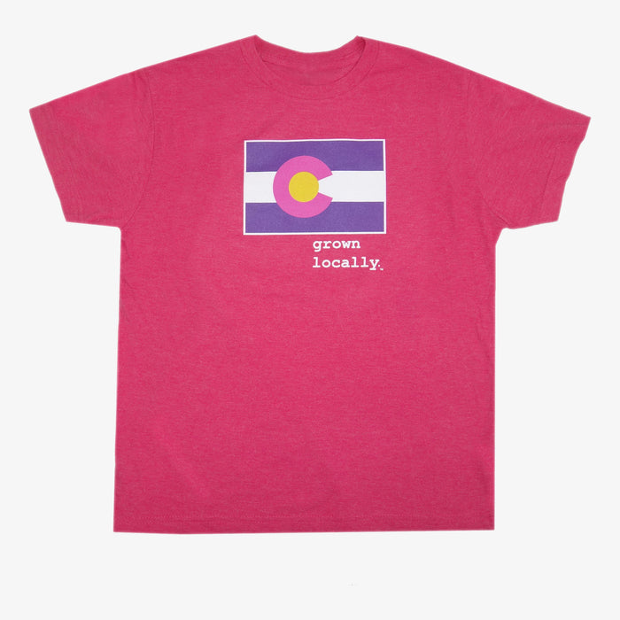 Youth Grown Locally Colorado T-Shirt - Pink