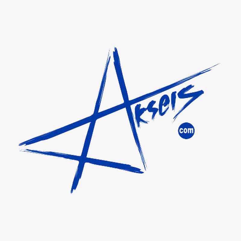 Aksels Star Logo Sticker - White