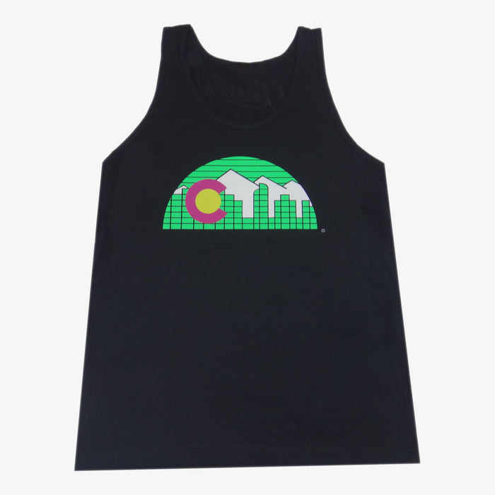 Denver Skyline Tank Top - Neon Black