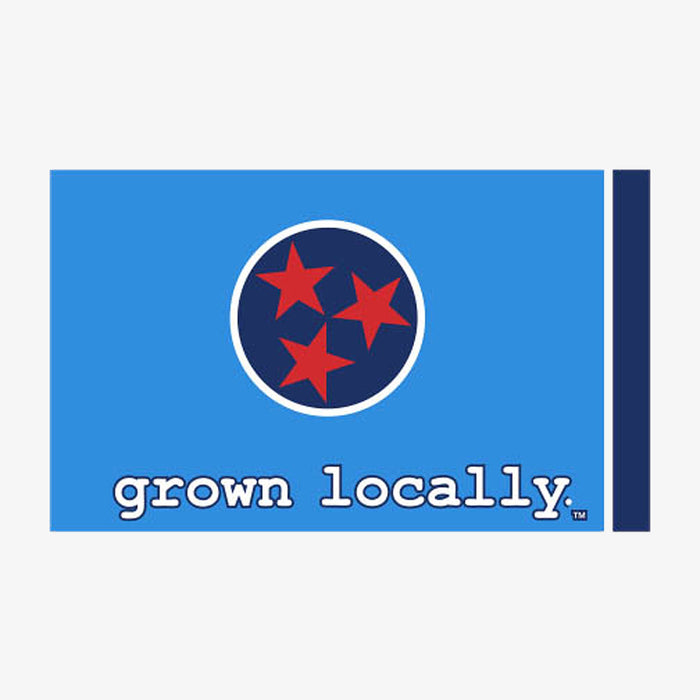 Aksels Grown Locally Tennessee Flag Sticker - Blue