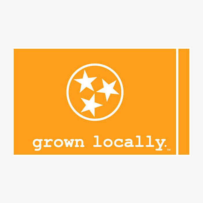 Aksels Grown Locally Tennessee Flag Sticker - Orange
