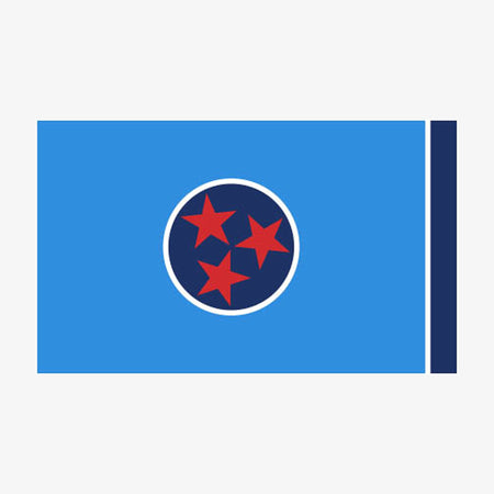 Aksels Tennessee Flag Sticker - Red