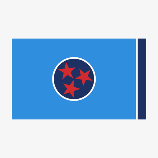 Aksels Tennessee Flag Sticker - Blue