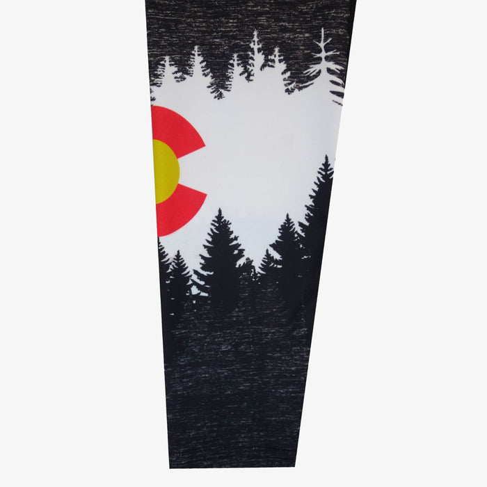 Women's Colorado Flag Mountain Yoga Pant - Black