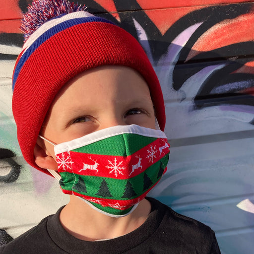 Aksels Ugly Sweater Kids Face Mask