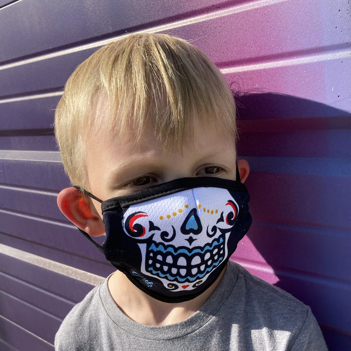 Aksels Sugar Skulls KIDS Face Mask