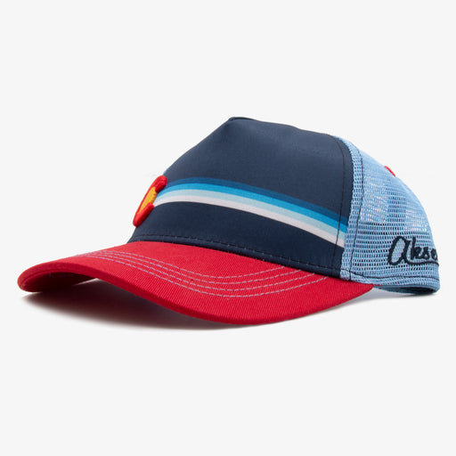 Aksels Kids Colorado Striped Low Pro Trucker Hat - Red