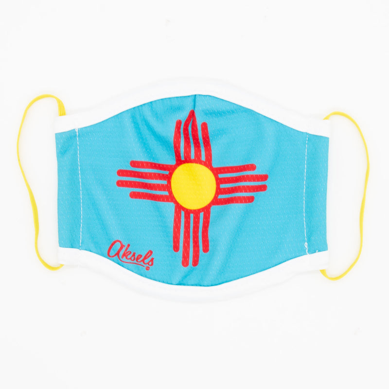 Aksels New Mexico Flag Face Mask - Yellow