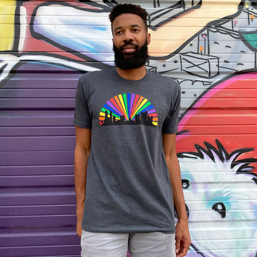 Aksels Denver Skyline Rainbow Men's T-Shirt