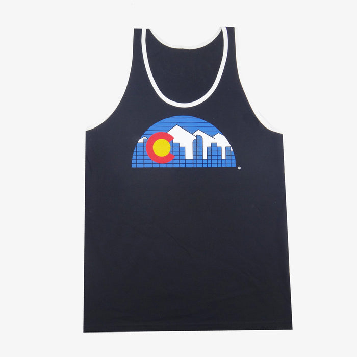 Denver Skyline Tank Top - Black
