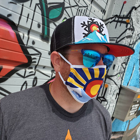 Colorado Flag Sunset Face Mask