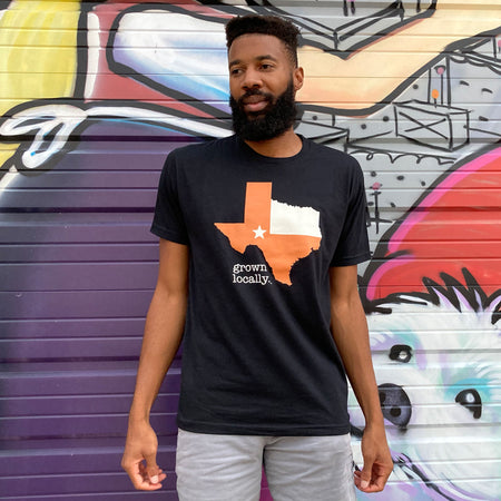 Aksels Grown Locally Texas T-Shirt - Charcoal