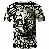 New Design Skull Print Mens tshirt Fashion 3D T-Shirt Summer Short Sleeve Casual Breathable Tops Tee Plus Size 5XL T shirt Homme