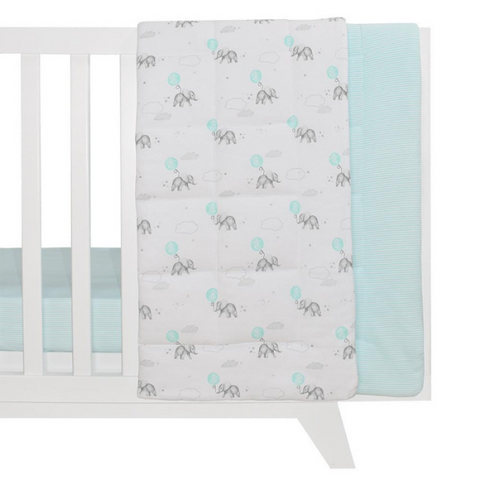 Reversible Jersey Cot Comforter - Dream Big $59.95