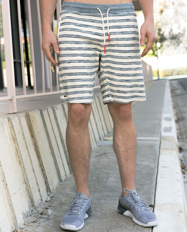Astrneme Playa Blue Stripe Shorts