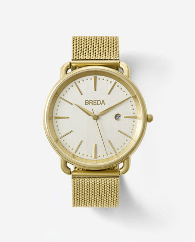 Breda Linx Gold Mesh Watch