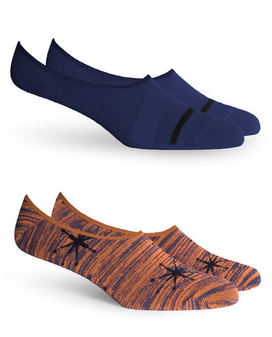 STARBOARD 2 PACK No Show Socks Autumn
