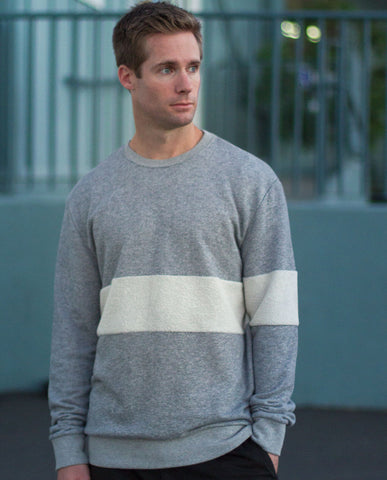 SLVDR One Stripe Grey Crewneck