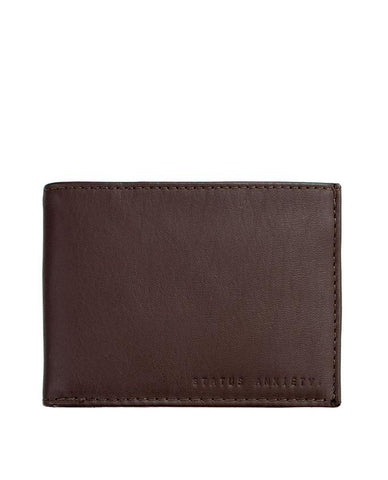 Status Anxiety Noah Wallet Chocolate