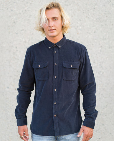 Astrneme Cord Midnight LS Buttonup