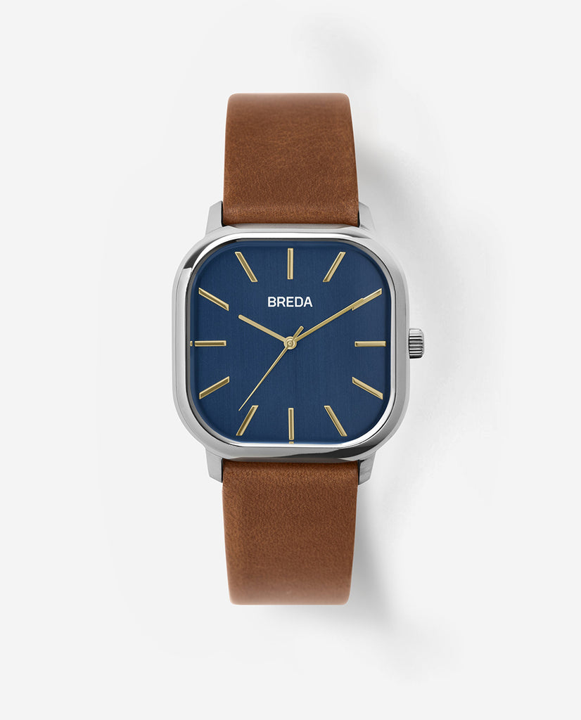 BREDA VISSER Silver / Brown / Navy / Watch