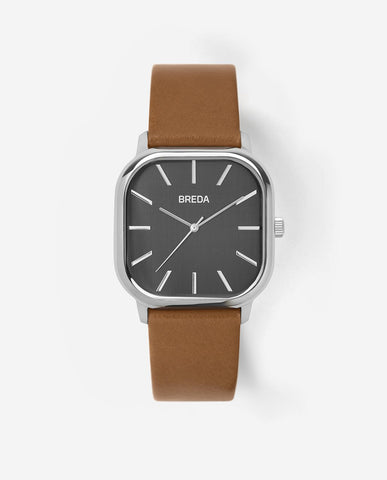 BREDA VISSER Silver / Brown Watch