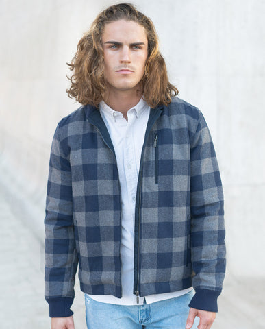 Color Siete Azure Plaid Jacket