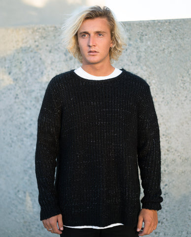 Handsome Me Spec Knit Noir Sweater