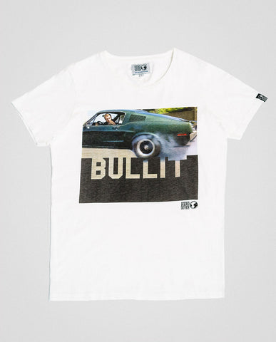 Hero Seven McQueen Bullit Graphic Tee White