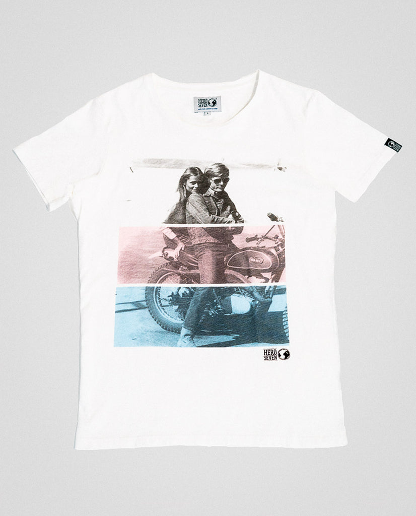 Hero Seven McQueen Ride Graphic Tee White