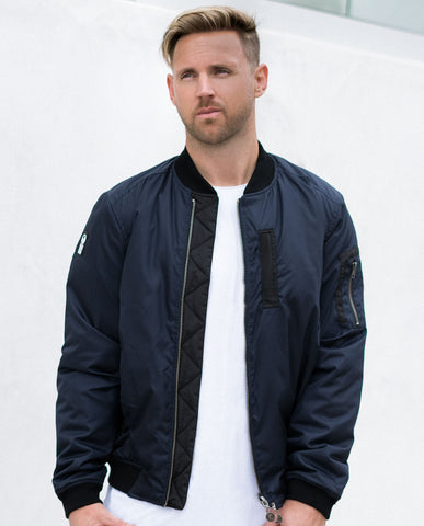Hero Seven Commande Navy Quilted Bomber