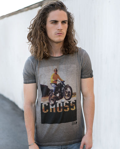 Hero Seven McQueen CROSS Graphic Tee Grey